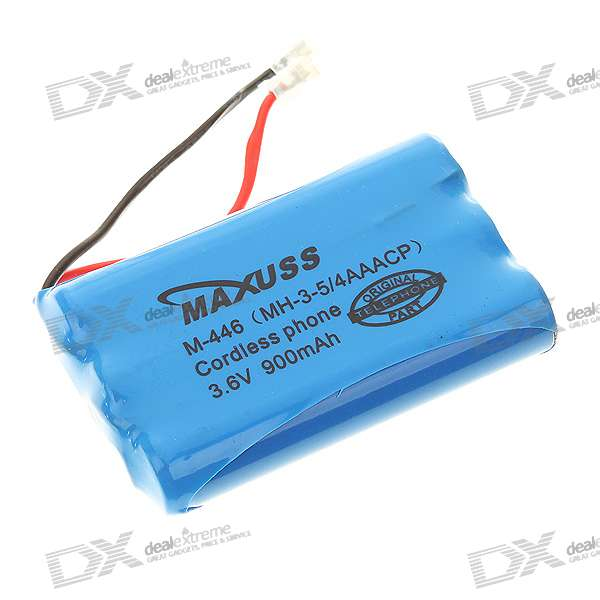 3.6V 900mAh Rechargeable Ni-MH Batteries for Panasonic HHR-P446 Cordless Phone