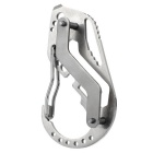 FURA Outdoor Stainless Steel Carabiner Key Holder - Silver