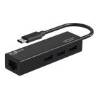 FineSource USB 3.1 Type C Hub & Network Card for MACBOOK - Black