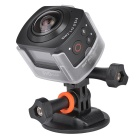AMKOV AMK-100S 360 Degrees 1440P HD Wi-Fi Digital Sport Camera - Black
