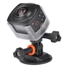 AMKOV AMK-100S 360 Degrees WiFi Sport Camera w/ Waterproof Case- Black