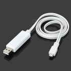 EL Visible Flowing Blue Light Micro USB Cable - White (85cm)