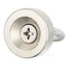 D30 * 10 Round NdFeB Eyebolt Circular Ring Magnet for Salvage - Silver