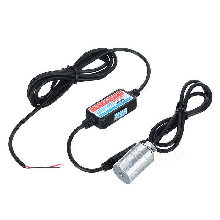 Cauda 650nm Laser Red Car Fog Light - Silver (12 ~ 24V)