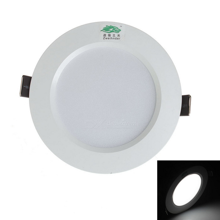 Zweihnder W343 7W White Light LED Ceiling Light - White (AC 100~265V)