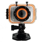 G260 HD 1080P FDH Waterproof Camera Movement Mini DV - Silver + Black