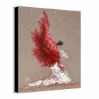 Print Abstract People Painting Canvas Wall Art Picture - Red