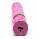 Creative Lipstick Style Advanced USB Rechargeable Lighter - Pink