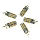 Ultrafire G4 3W Warm White Bulbs - Transparent + Yellow (DC12V / 5PCS)