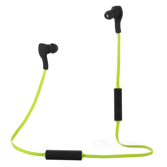 Bluetooth 4.1 +EDR Sport Stereo Earphone with Mic - Black + Green