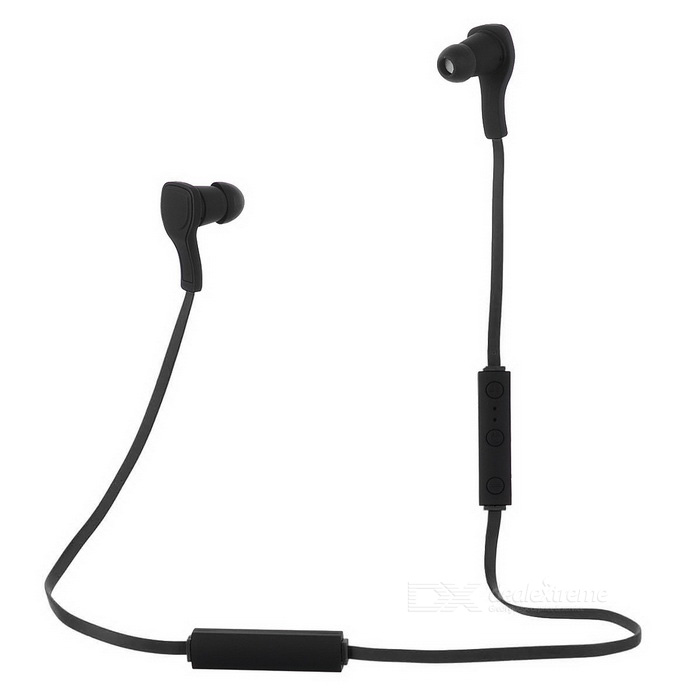 Bluetooth V4.1 +EDR Sport Stereo Earphone with Mic - Black