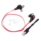 G6 Fashion Sports Stereo Bluetooth In-Ear Earphones - Red + Black