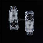 3W 400lm RGB LED Car Decoration Welcome Light - Transparent (DC 9~36V)
