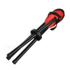 Outdoor Foldable Three-legged Stool for Fishing - Red + Black