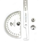 0~180 Degree Bevel Protractor Angle Ruler - Black + Silver (100mm)