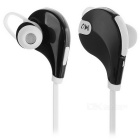 Outdoor Sports Bluetooth V4.0 In-Ear Earphone w/ Mic - White + Black