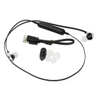 Flat Cable Bluetooth V4.0 Sport Stereo Music Earphones - Black