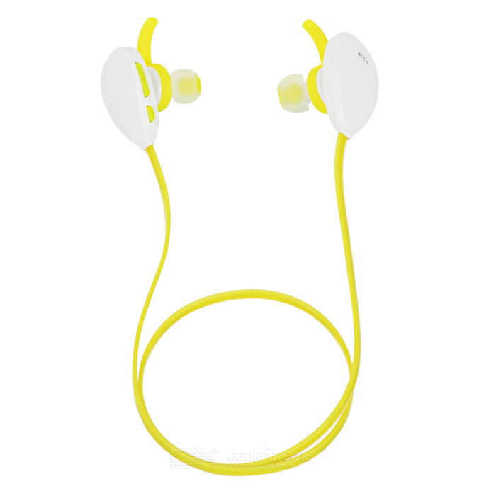 X13 BT Sport Hands-free Stereo In-Ear Earphone w/ Mic - White + Yellow