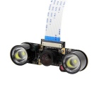 Wide-angle Camera Module + 2 Infrarood IR LED Board voor Frambozen Pi