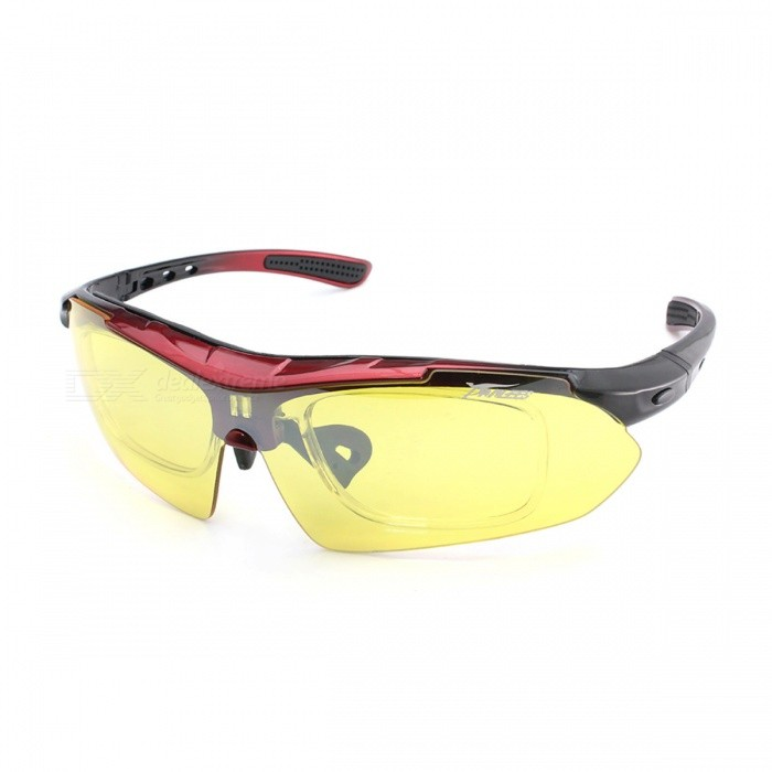 Panlees SP008 Polarized Outdoor Sports Goggles - Red