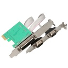 DIEWU PCI-E To 1 Parallel + 2 Serial Ports Expansion Card - Green