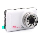 "FH05 3.0"" LCD 1080P Car DVR Vehicle Camera Video Recorder DVR - White"