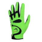 TOURLOGIC Men's Goat Skin + PU Leather Golf Glove - Black + Green