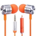 EF-E4 3.5mm In-Ear Stereo Earphones Support Handsfree Call - Orange