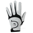 TOURLOGIC Men's Goat Skin + PU Leather Golf Glove - Black + White (M)