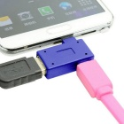 90' Right Angled Micro USB to USB OTG Adapter w/ Micro USB Power Port