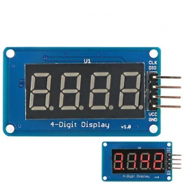 """0.36"""" Red LED 4-Digit Display Module w/ Decimal Point for Arduino"""