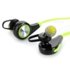Bluetooth Sports Universal Handsfree Earphone w/ Mic - Green + Black