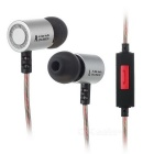 KZ ED4 Wired HiFi Subwoofer Earphones with Mic - Silvery White + Brown