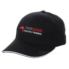TOURLOGIC Unisex Peaked Golf Cap - Black