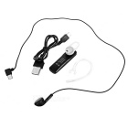 S2 Bluetooth V4.1 Ear-Hook Earphone w/ Mic - Black + Silver