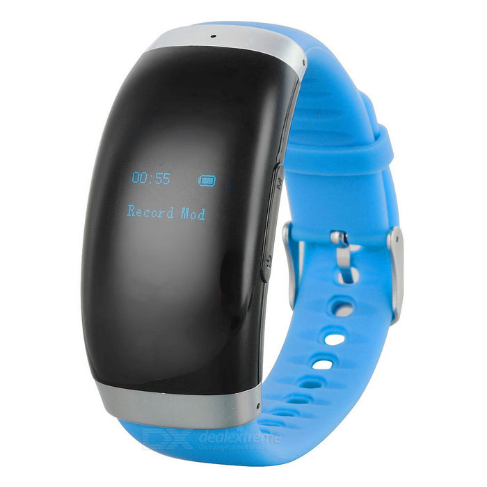 Smart Wrist Watch Digital Voice Recorder w/ 16GB Memory - Black + Blue