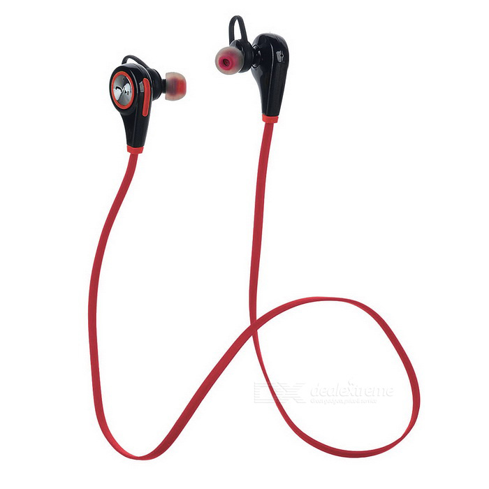 Bluetooth Wireless Sports Handsfree Earphone w/ Mic - Red + Black