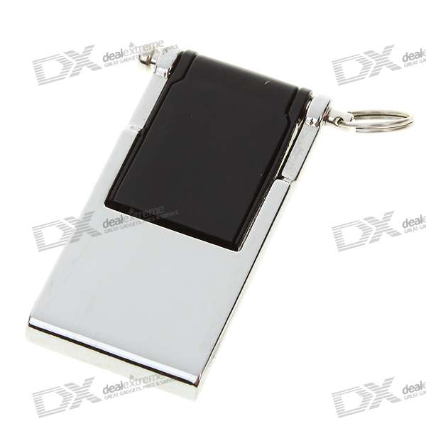 Compact USB 2.0 Flash/Jump Drive with Strap - Black (4GB)