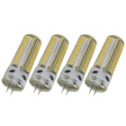 G4 4W LED Warm White Light Bulb - White + Yellow (DC 12V / 4PCS)