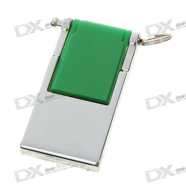 Compact USB 2.0 Flash/Jump Drive with Strap - Green (2GB)