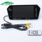 "7"" TFT Color LCD Bluetooth MP5 Car Rearview Mirror Monitor - Black"