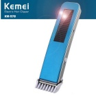 KEMEI Sloar Portable Rechargeable Electric Hair Clipper - Blue