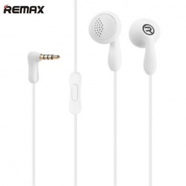 REMAX 301 In-ear Music Earphones with Microphone - white