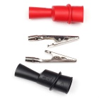 MASTECH TC4001 Testing Probes w/ Alligator Clips - Red + Black