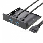 DIEWU 19-Pin / 20-patillas a 2 HUB USB 3.0 del panel frontal soporte del cable (55 cm)