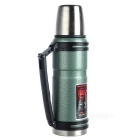 NatureHike 1.2L Outdoor Camping Vaccum Cup - Green + Black