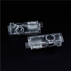 3W Car LED Door Welcome Decoration Light for BMW - Transparent (2 PCS)