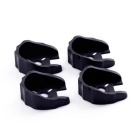 Gear Motor Mount Holder Bracket for RC Model - Black (4PCS)