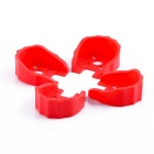 Gear Motor Mount Holder Bracket for RC Model - Red (4PCS)