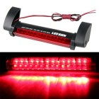 QooK JHIH02001 12V 14-Red LED Car 3rd Brake Light - Black + Red